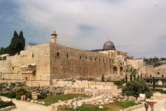 Jerusalem, Israel - May 8, 2013: Dome of Al-Musalla Al-Qibli Al-Aqsa - the largest mosque in the city, Archaeological Royalty Free Stock Image