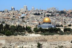 Temple Mount with El Aqsa Mosque in Jerusalem royalty free stock photography