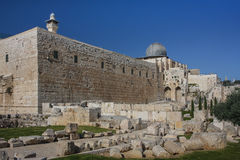 Jerusalem, Israel. The mosque along the southern wall of Haram al-Sharif Stock Photography