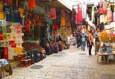 Jerusalem, Israel O mercado árabe da cidade velha fotos de stock royalty free
