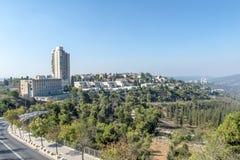 JERUSALEM ,ISRAEL - OCTOBER 20 2017. View of Jerusalem from Mount Herzel.  royalty free stock photography
