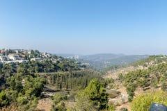 JERUSALEM ,ISRAEL - OCTOBER 20 2017. View of Jerusalem from Mount Herzel.  stock photo