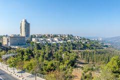 JERUSALEM ,ISRAEL - OCTOBER 20 2017. View of Jerusalem from Mount Herzel.  royalty free stock photos