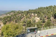 JERUSALEM ,ISRAEL - OCTOBER 20 2017. View of Jerusalem from Mount Herzel.  stock image