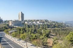 JERUSALEM ,ISRAEL - OCTOBER 20 2017. View of Jerusalem from Mount Herzel.  royalty free stock image