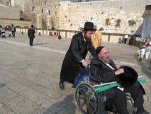 Jerusalem Israel - Oktober 9, 2009: Den västra väggen, Arkivbilder