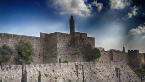 Jerusalem,Israel, the Old City walls Stock Image