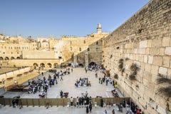 Jerusalem Israel på den västra väggen Arkivfoton