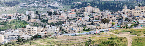 Jerusalem/ Israel - 12-04-2014: Panorama of buildings in East Jerusalem Royalty Free Stock Photography