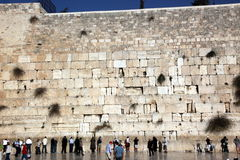 JERUSALEM, ISRAEL People at the Wailing Wall where Stock Photo