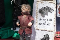 The puppet of Tyrion Lannister. Game of thrones character royalty free stock images