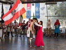 Rewarding the Knight - Winner at the festival `Knights of Jerusalem` in Jerusalem, Israel. Royalty Free Stock Images