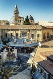 Jerusalem, Israel 09/11/2016: Top view of the square in the old city stock photo