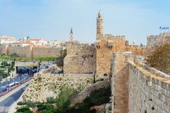 Jerusalem, Israel at the Tower of David. stock image