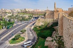 Jerusalem, Israel at the Tower of David. stock photo