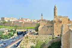 Jerusalem, Israel at the Tower of David. stock photos