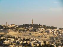 Jerusalem, Israel am Turm von David und andere Anziehungskräfte lizenzfreies stockbild