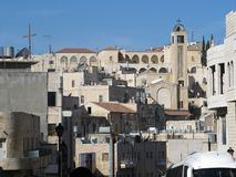 Jerusalem, Israel. View of residential buildings in the city center royalty free stock photo