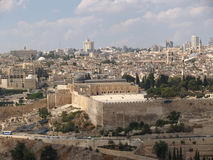 JERUSALEM, ISRAEL. View of the Temple mountain Royalty Free Stock Images