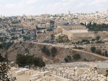 JERUSALEM, ISRAEL. View of the Temple mountain Royalty Free Stock Image