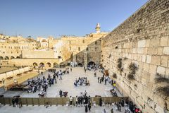 Jerusalem, Israel at the Western Wall Stock Photos