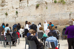 Jerusalem Israel Western Wall March 23, 2015 royaltyfri bild
