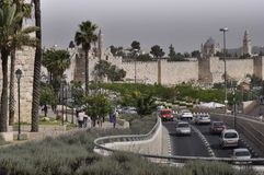 Jerusalem Jaffa gata Royaltyfria Bilder