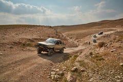 Jerusalem - 10.04.2017: Jeep vehicle in a trek, at the Israeli m Stock Photos