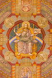Jerusalem - Jesus the Pantokrator and the apostle. Paint on the ceiling of Evangelical Lutheran Church of Ascension Royalty Free Stock Photography