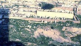 Jerusalem Jewish cemetery Kidron Valley stock video footage