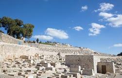 Jerusalem - jewish cemetery on the Mount of Olives. Stock Photos
