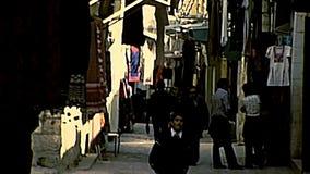 Jerusalem Jewish and Muslim people stock video