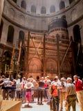 JERUSALEM - Juli 15: Greek Chapel of the Church of Holy Sepulchr Royalty Free Stock Photo