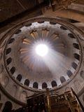 JERUSALEM - Juli 13: Grekiskt kapell av kyrkan av den heliga griften i Jerusalem, Juli 13, 2015 Arkivfoto