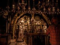 JERUSALEM - Juli 15: Sten av smörja av Jesus Royaltyfri Fotografi