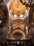JERUSALEM - Juli 13: Valvet av ett av kapellen i Basien Arkivbild