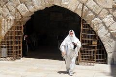 The Wailing Wall - Israel. JERUSALEM - JULY 20:Jewish man pray in The Cave Synagogue at the Western wall on July 20 2009 in Jerusalem, Israel. Traditionally, it stock image