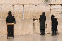 JERUSALEM -July 27 : Jews prays at the Western Wall July 27 , 2012 in Jerusalem, Israel Stock Images