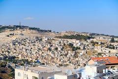 Jerusalem landscape. View on arabic neighborhood near old city in Jerusalem Royalty Free Stock Photo