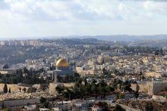 Jerusalem landscape from Mount Scopus Stock Images