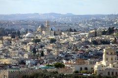 Jerusalem landscape from Mount Scopus Stock Photos