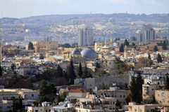 Jerusalem landscape from Mount Scopus Stock Photos