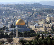 Jerusalem landscape from Mount Scopus Stock Image