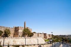 Jerusalem landskap den gammala staden Arkivbild