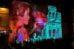 Jerusalem Light festival. In the old city stock image