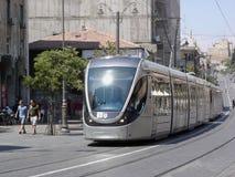 Jerusalem Light Rail Royalty Free Stock Images