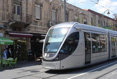 Jerusalem Light Rail Royalty Free Stock Photo
