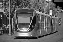The Jerusalem Light Rail. JERUSALEM ISRAEL 24 10 16 :The Jerusalem Light Rail is a light rail system in Jerusalem. Currently the Red Line is the only one in Royalty Free Stock Photography