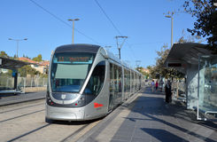 The Jerusalem Light Rail Royalty Free Stock Image