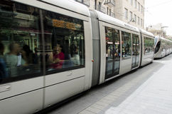 Jerusalem Light Rail. Runs along Jaffa Street Royalty Free Stock Images